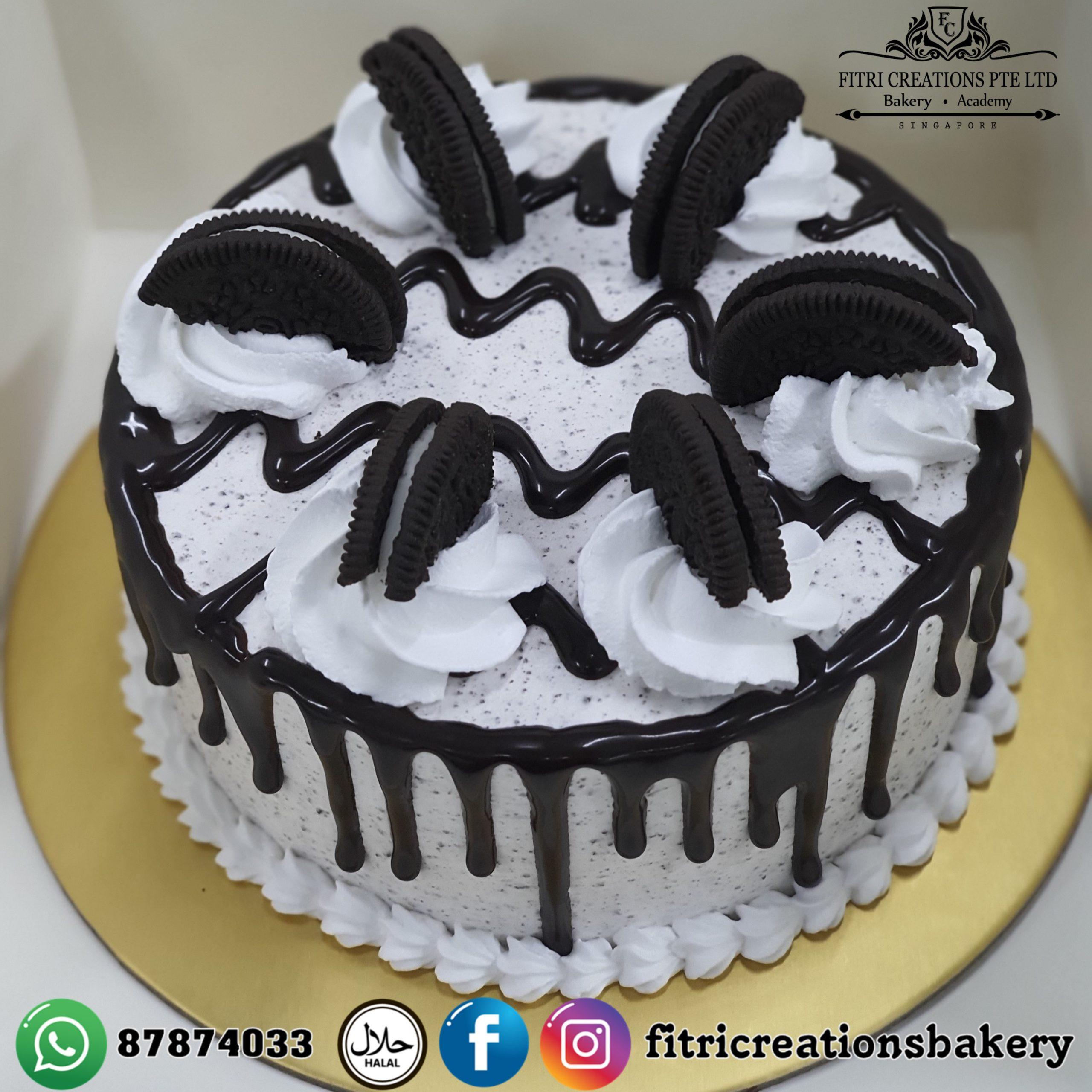 Cool Oreo Birthday Cake Fitri Creations Funny Birthday Cards Online Kookostrdamsfinfo