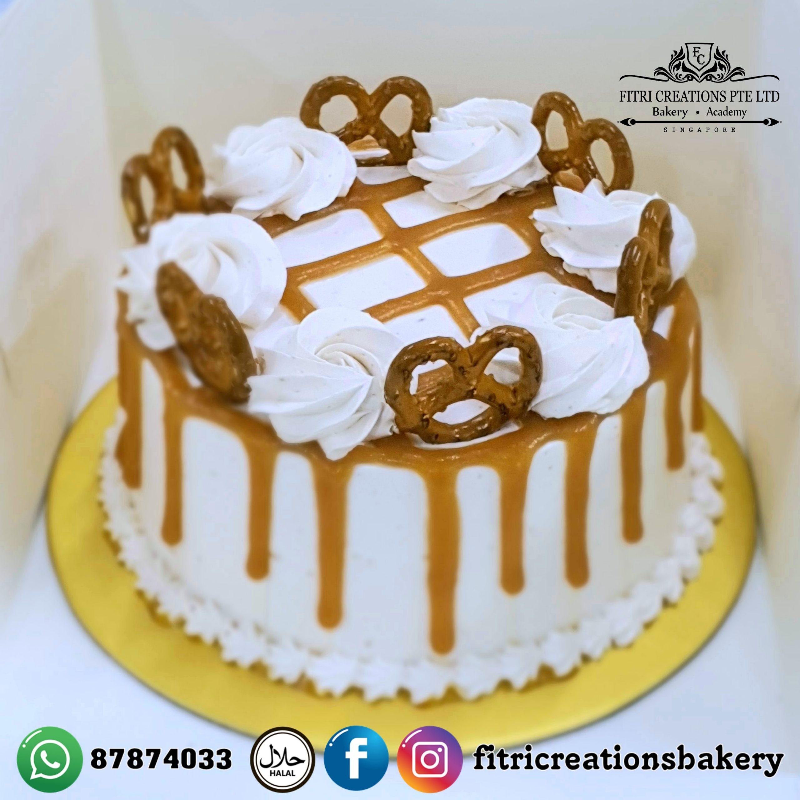 Sensational Salted Caramel Birthday Cake Fitri Creations Funny Birthday Cards Online Necthendildamsfinfo